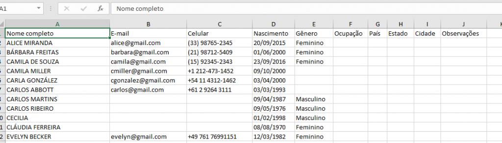 Arquivo de hóspedes baixado no formato .xlsx.
